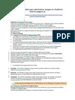 Diseño Del Modelo Para Administrar Riesgos en Auditoría Interna