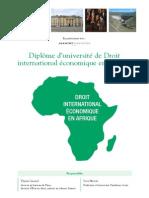 Plaquette DU Droit International éConomique