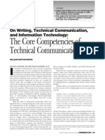 Core Competencies of Technical Communication