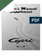 Owner's Manual Supplement - Capri 16' - 19'