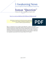 The Human Question - 1st of 4 Concluding essays