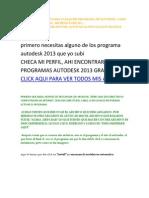 Este Tutorial Sirve Para Cualquier Programa de Autodesk