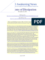 Problems of Dissipation - 4th of 4 Concluding Essays