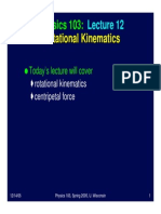 Kinematik rotasi