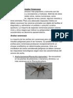 Ejemplos de animales venenosos