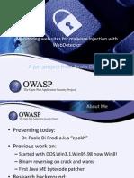 OWASP Presentation WebTracker