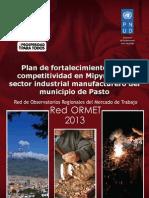 Plan de Fortalecimiento de La Competitividad en Mipymes Del Sector Industrial Manufacturero Del Municipio de Pasto