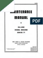 Detroit Diesel in Line Series 71 Maintenance Manual