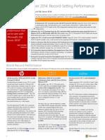 SQL Server 2014 Performance Benchmarks (1)