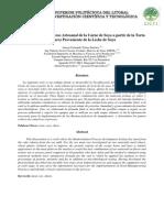 Tecnificación Del Proceso Artesanal de La Carne de Soya a Partir de La Torta (Okara) Proveniente de La Leche de Soya