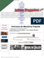 CORTE ROSCAS de MADERA - Con Su Taladro Mecánico - Mi Mecánica Popular