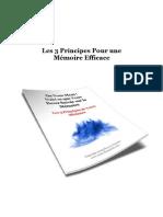 Les 3 principes pour une mémoire efficace