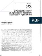 Lewontin 90 Agroecology Political Economy of Ag Research Hybrid Corn