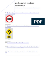 learner licence theory test question1 signs and markings
