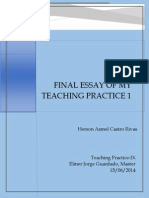 Final Essay-Teaching Practice I