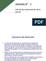 SEMANA N°2(Funcionamiento de los componentes de la dirección mecánica)