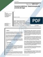 NBR 12090_91 (MB-3427) - Chuveiros Elétricos - Determinação Da Corrente de Fuga - 4pag