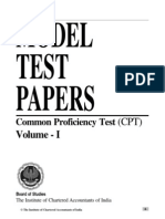 Cpt Model Test Paper 1