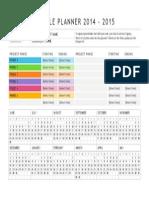Event Schedule Planner 2014