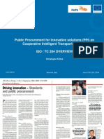 P4ITS - Public Procurement for Innovative Solutions (PPI) on Cooperative Intelligent Transport Systems - IsO TC 204 OVERVIEW