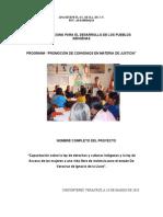 Proyecto Cdi Promocion de Justicia Apachtepetl