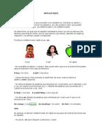 Artículos Inglés