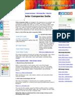 Top Solar Companies India
