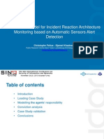 Conviction Model for Incident Reaction Architecture Monitoring Based on Automatic Sensors Alert Detection