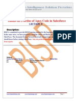 Hands on Practise of Apex Code in Salesforce