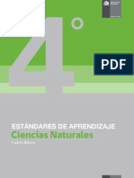 Estandares de Aprendizaje Ciencias Naturales 4 Basico