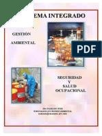 Sistema Integrado de Gestion Ambiental - Seguridad y Salud Ocupacional