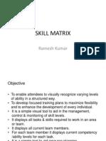 SKILL MATRIX v 1.1