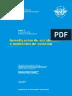 OACI Anexo 13 - Investigacion de Accidentes e Incidentes de Aviacion