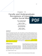 Faculty and Undergraduate Perceptions of Expertise Within Social Media