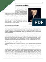 Arthur Schopenhauer's Aesthetics