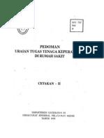 Pedoman Uraian Tugas Keperawatan Di Rumah Sakit, 1999