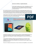 Hire Android App Developer, Best Services at $15/hour - Hyperlink InfoSystem
