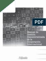 Manual de gestión descentralizada de la Cooperación Internacional