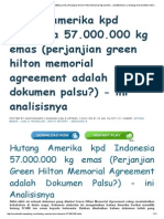 Hutang Amerika Kpd Indonesia 57.000.000 Kg Emas (Perjanjian Green Hilton Memorial Agreement..