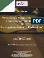 Brosur Seminar Anti Fraud 22 Maret 2014