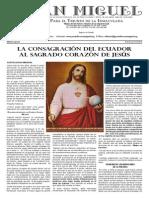 Consagracion del Ecuador al Sagrado Corazon de Jesus