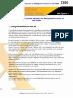 Availability and Disaster Recovery Foe SAP HANA