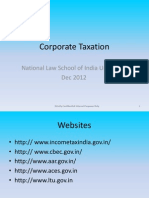 Corporate Taxation_9 Dec 2012_NLSIU
