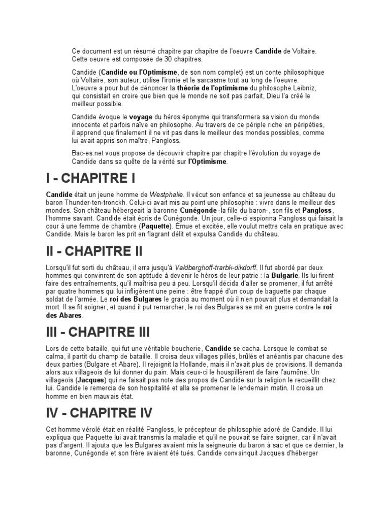 Resume de candide chapitre 1 create an original title for essay