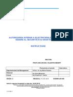 Instructiune Autorizare Electricieni-ssm 1303