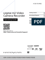 Sony Camcorder manual