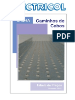 CALHA Ou Caminho de Cabos Chapa Perfurada ELECTRICOL