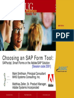 Choosing an SAP Form Tool