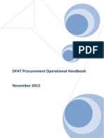 Procurement and Contracts Operational Handbook