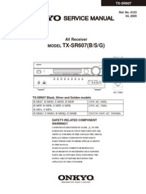 Hfe Onkyo TX-sr607 Service manual | Hdmi | Video